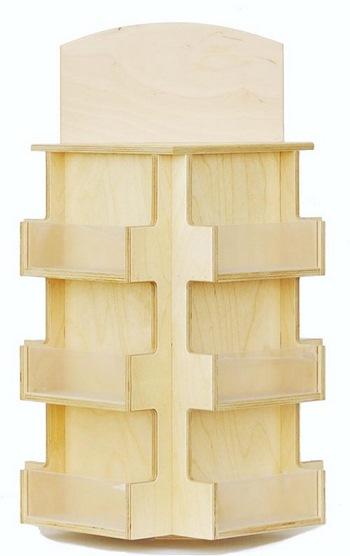 12 pocket souvenir shop shelving wooden retail fixtures. Black Bedroom Furniture Sets. Home Design Ideas