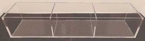 Single and Multiple Compartment Acrylic Tray Display