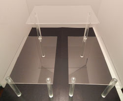 Tiered Table Disp., 3-Shelves