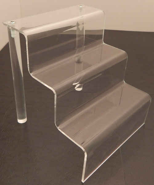 "Deep Shelf Acrylic Stairway, 2"" Steps"