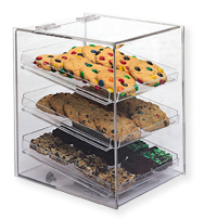 Bakery Display Cube with Lift Up Back