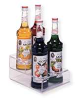 Bottle Organizer with Steps for Italian Syrup