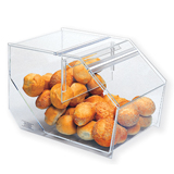 Plastic Bulk Food Bin with Slant Back - Small