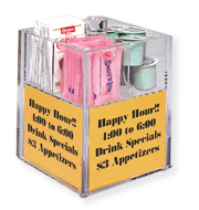 Table Condiment Caddies with Sign Holders