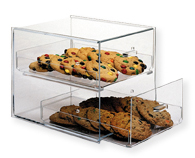 Cookie Display Case With Two Drawers Countertop Acrylic
