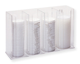 Clear Lid Organizer with 4 Slots
