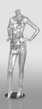 Clear Female Mannequin with hands on hip