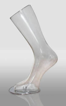 Polycarbonate Clear Part Mannequin Just Calf And Foot