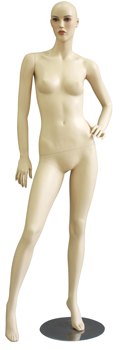 Realistic Female Mannequin Left Hand On Hip Right Leg Extended