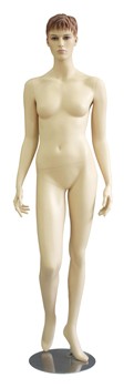 Realistic Female Mannequin Right Knee Bent Walking