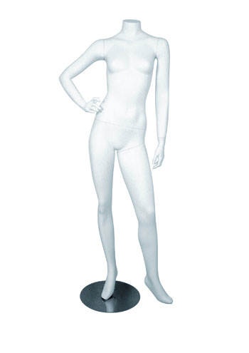 Headless Female Full Body Form One Arm On Hip Round Base