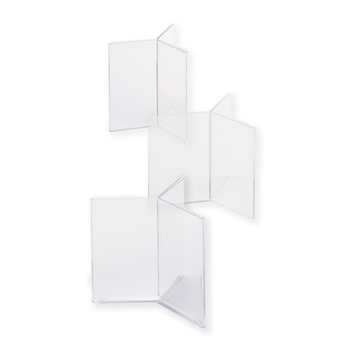 Menu Card Holder with three sides - Footed