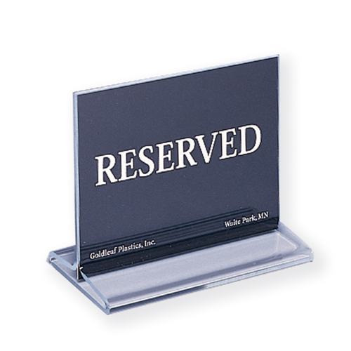 Reserved Sign and Menu Holder
