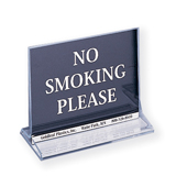 Table Top No Smoking Sign with Menu Holder