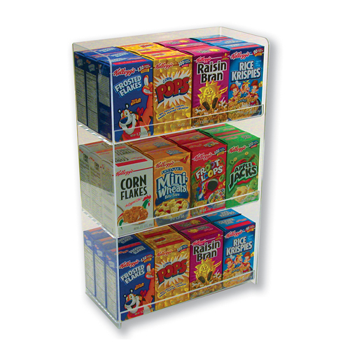 Organizer for boxed cereal with 3 tiers countertop for Cereal organizer