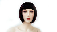 Realistic Female Mannequin Wig Straight Black Short With Bangs