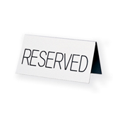 Reserved Table Tent Sign - Engraved