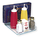Restaurant Condiment Caddy with Menu Holder
