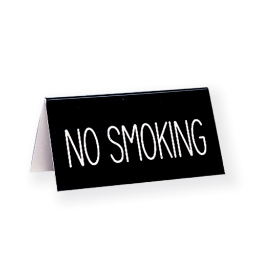 Engraved No Smoking Table Tent