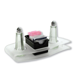 Frosted Table Caddy with Modern Design