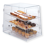 Clear Table Top Pastry Display Case - Double entry