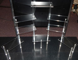 Tiered Table Disp., 8- Shelves