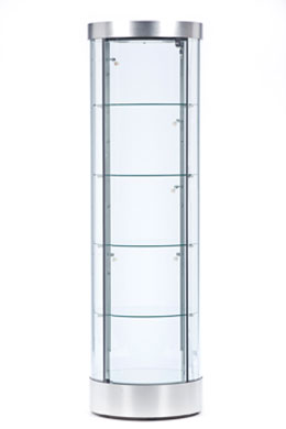 Circle Cabinet Display Case Tower Display Cases Achieve