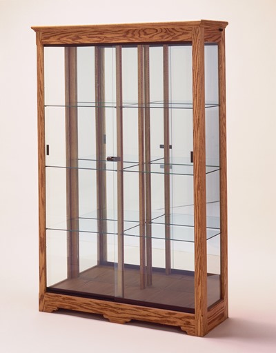 collectors glass display cabinet with light wall display. Black Bedroom Furniture Sets. Home Design Ideas