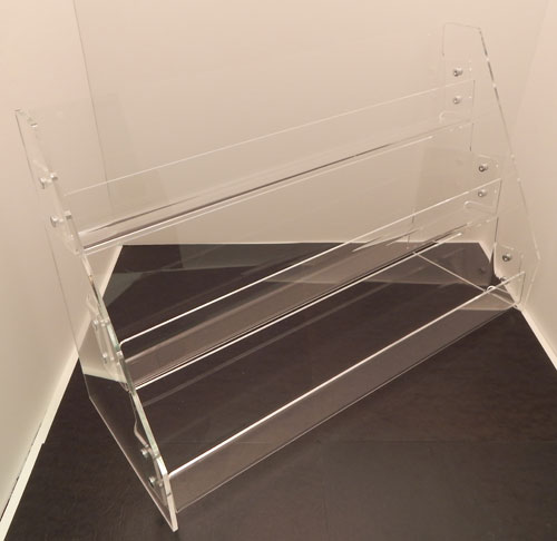 3 or 4 Tier Tilt-Back Acrylic Card & CD Rack