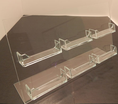Multi-Pocket Wall Mount Business Card Display Stand, Also available for Gridwall and Slatwall