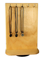 Counter Necklace Display Rack In Wood