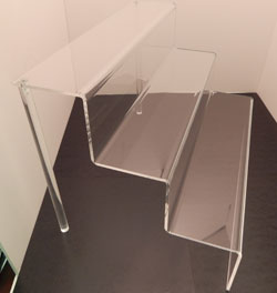 Acrylic Stairstep Risers Acrylic Fixtures Achieve Display