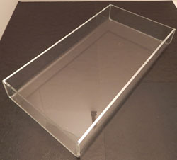 Deluxe Acrylic Trays, Available in 8 Sizes