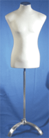Male pinnable dress form - White Jersey