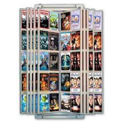 Wall Mount Retail Dvd Flip Display For 100 Dvds 1 Per