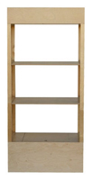 Floor Standing Shop Shelving In Wood