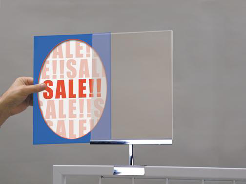 Acrylic Sign Holder for Framed Gridwall - 25 per box