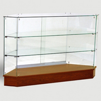 Corner Glass Display Showcase Full Vision