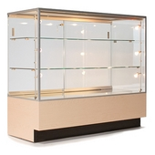 Full-Vision Glass Jewelry Display Counter - Available in 4 Widths