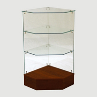 Full Vision Pentagon Corner Display Case