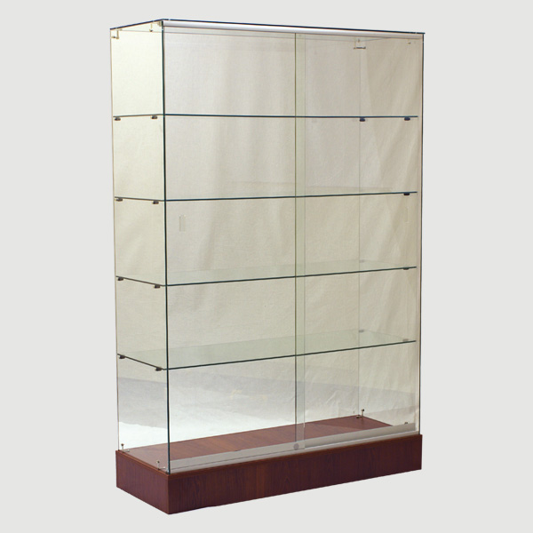 glass wall cabinet for retail store full vision full vision display cases achieve display. Black Bedroom Furniture Sets. Home Design Ideas
