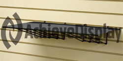 Flat Gridwall Shelf with Wire Supports - 4 per box
