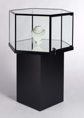 Hexagonal Free Standing Jewelry Display Jewelry Exhibit