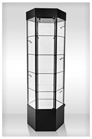 Hexagonal Glass Display Case