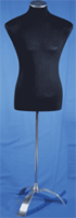 Male pinnable dress form - Black Jersey