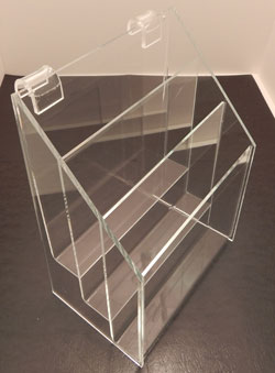 3 Tier Brochure Holder, Single Pocket, available in 2 sizes