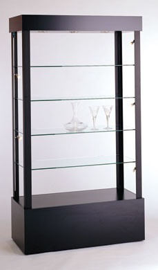 Open Rectangular Glass Showcase - Available in 2 Widths