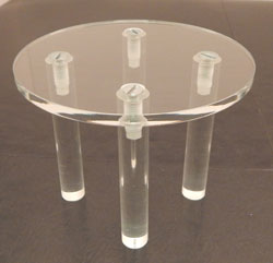 "Round Acrylic Table, 4"" dia, Available in 4 heights"