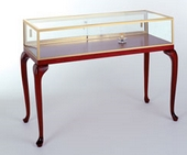 Sit Down Glass Jewelry Display Cases - 20D x 36H - Available in 4 Widths