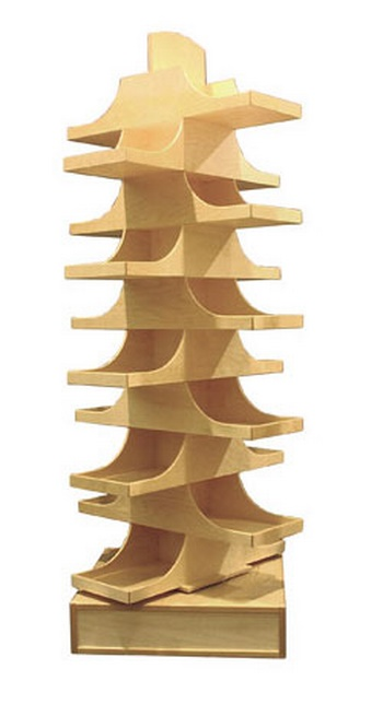 Spinning Wood Merchandise Display Wooden Retail Fixtures